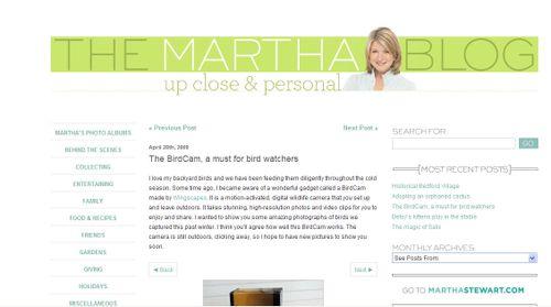 Martha blog